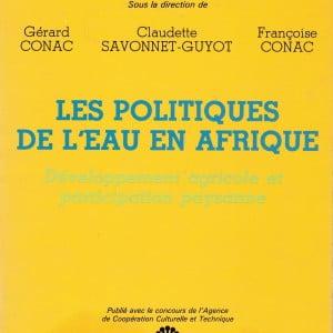 1985 POLITIQUE DE EAU AFRIQUE G CONAC (EDS) COUV